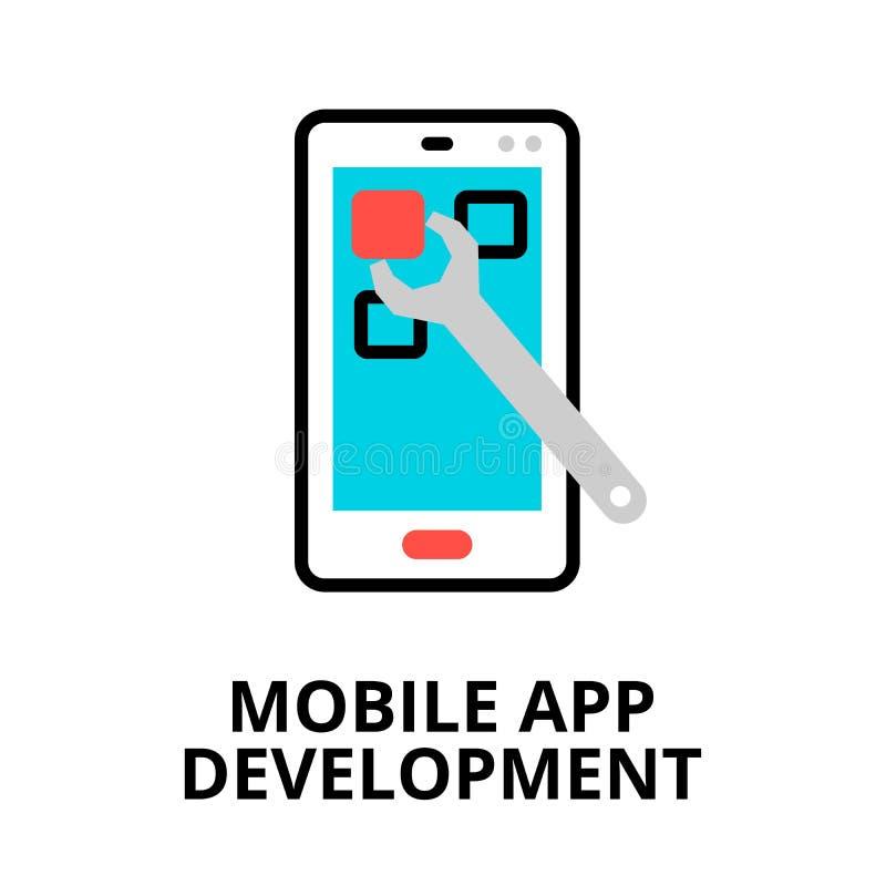 流动app发展象的概念 皇族释放例证