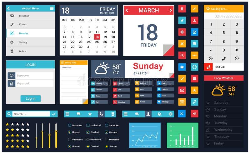流动app用户界面设计传染媒介 皇族释放例证