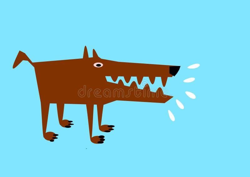 流口水的狗 皇族释放例证