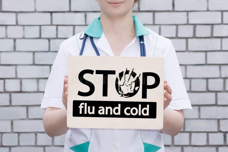 流感和冷的中止概念 照片与 库存照片