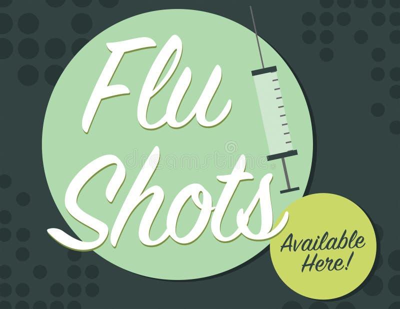 流感海报 库存例证