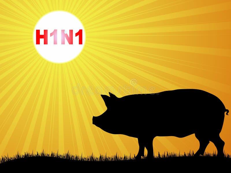 流感猪病毒 库存例证