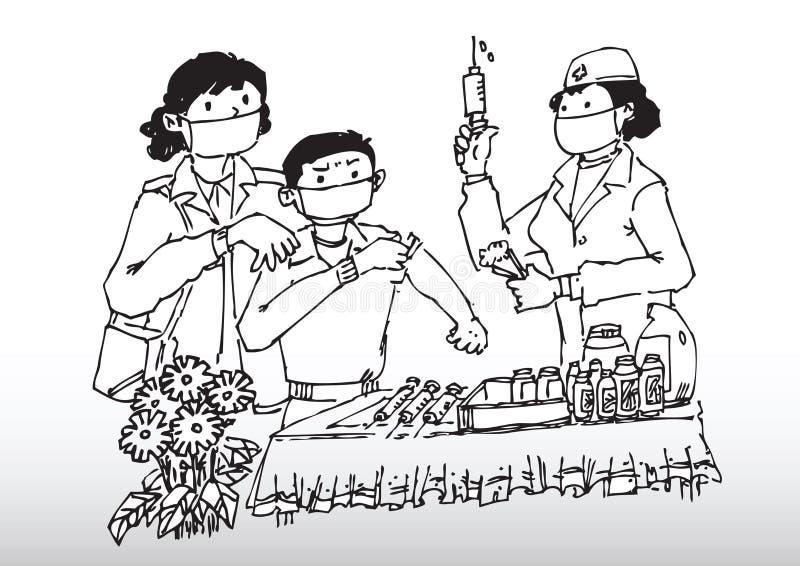 流感疫苗 向量例证