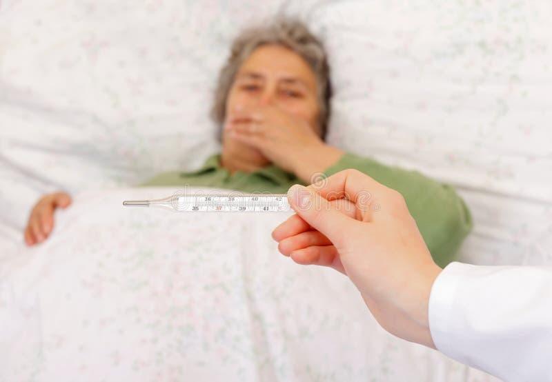 流感症状 免版税库存照片