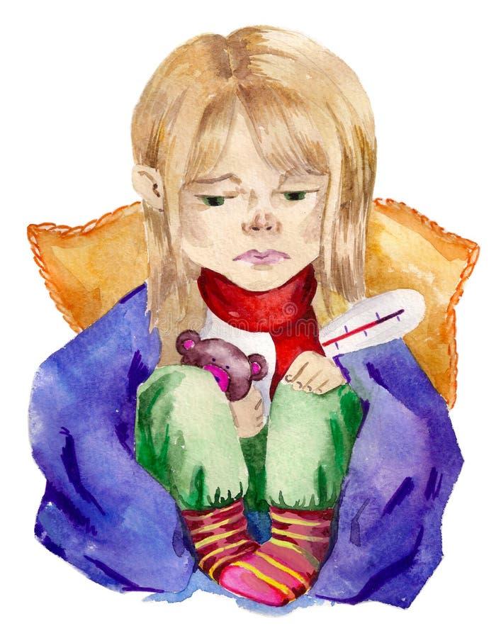 流感 向量例证