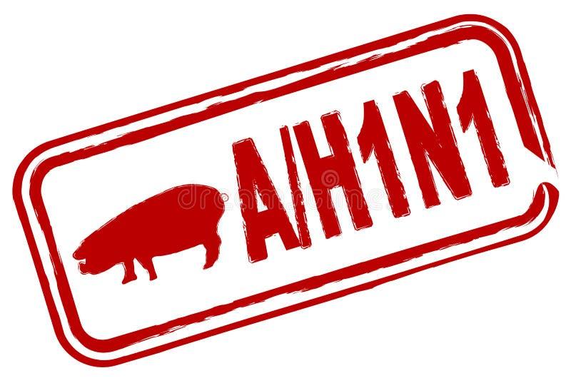 流感h1n1猪 向量例证