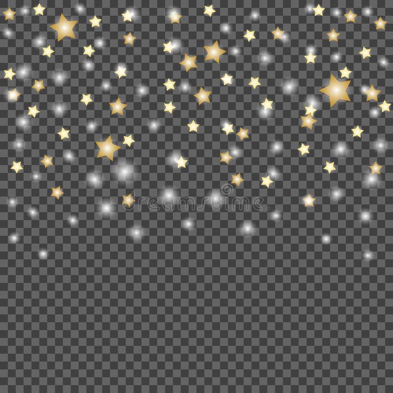 流星简单设计在黑暗,透明被隔绝的背景的 传染媒介例证模板 皇族释放例证