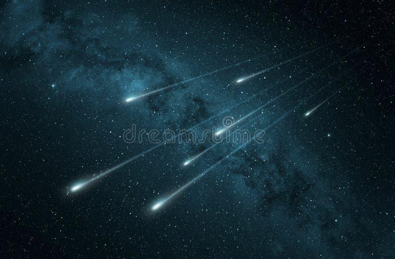 流星雨用银河 皇族释放例证
