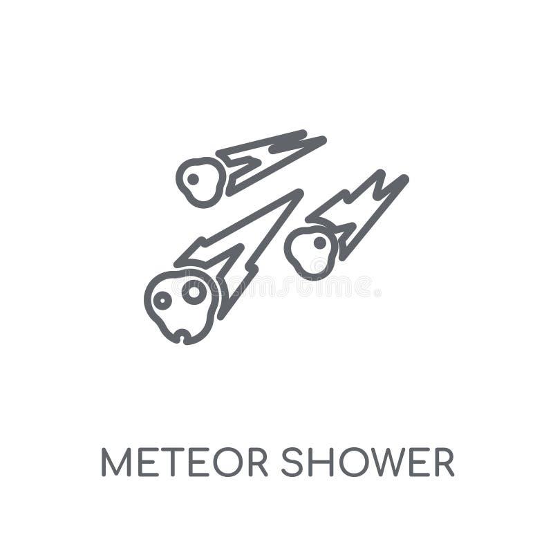 流星雨线性象 现代概述流星雨商标骗局 向量例证
