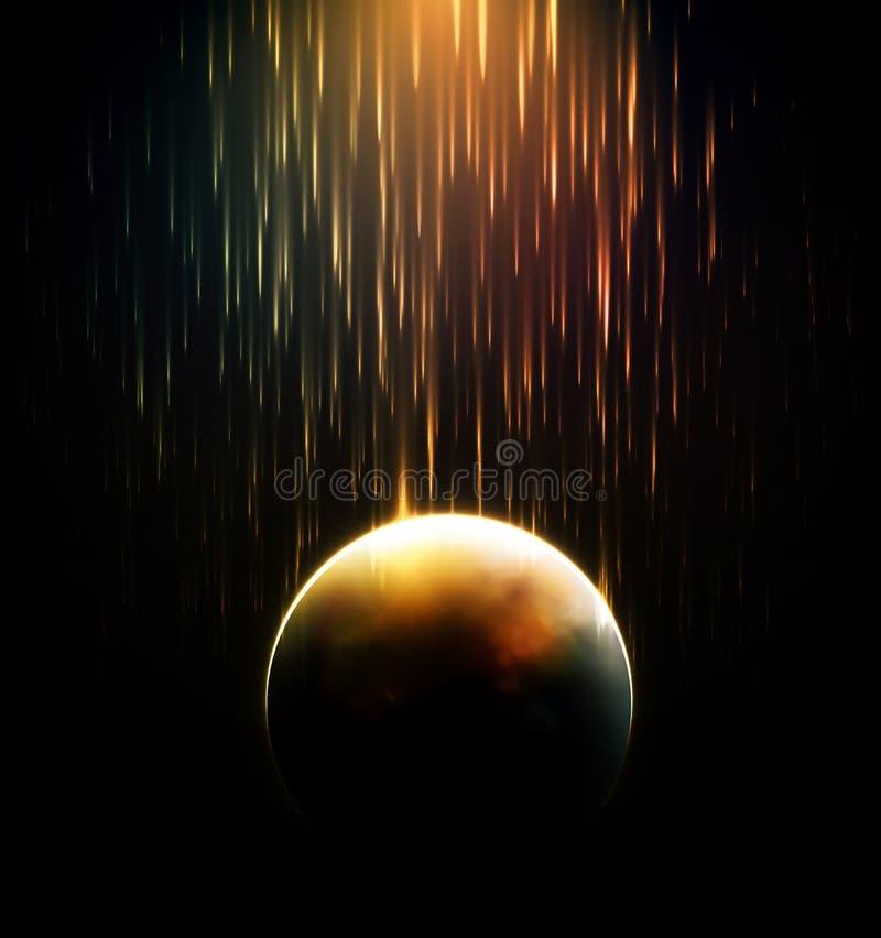 流星雨 向量例证