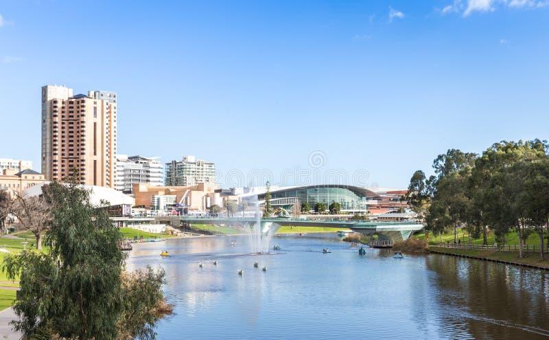 洪流河-更旧的公园在阿德莱德,南澳大利亚 免版税库存图片