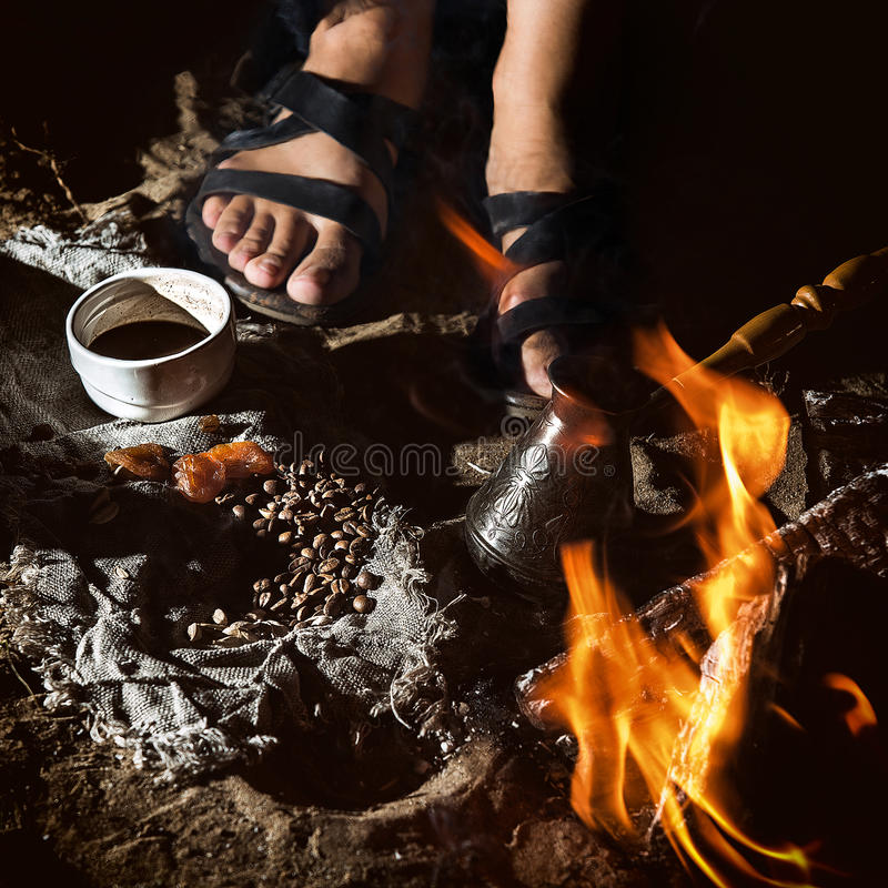 流浪的咖啡 库存图片