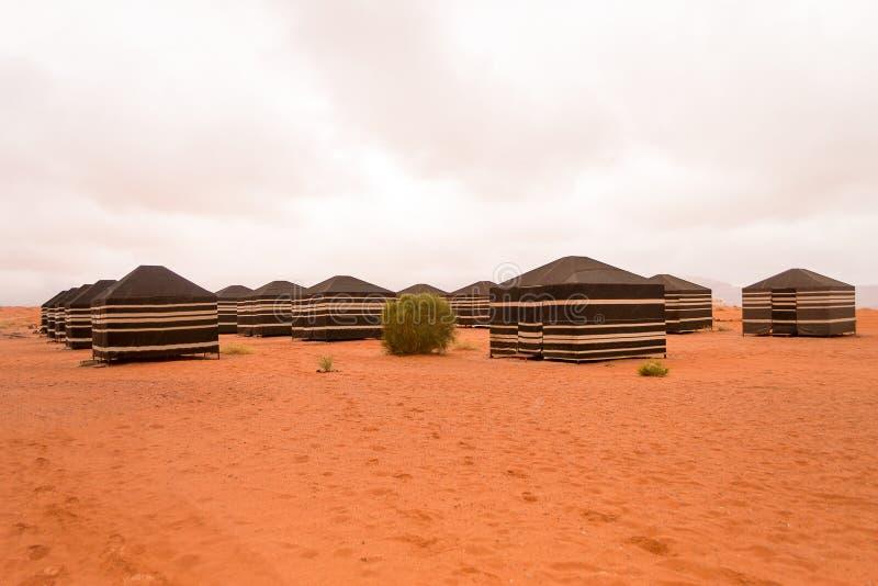 流浪的帐篷,瓦地伦沙漠,约旦 库存图片