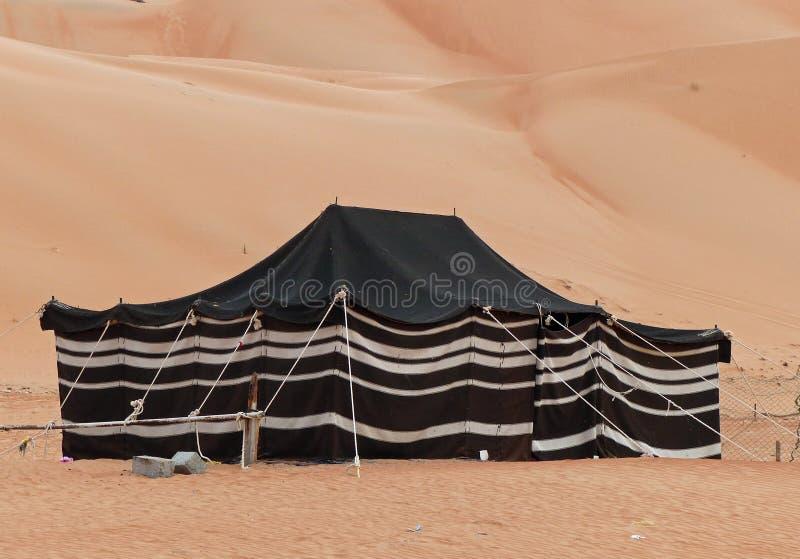 流浪的帐篷,瓦希巴铺沙,阿曼 库存照片