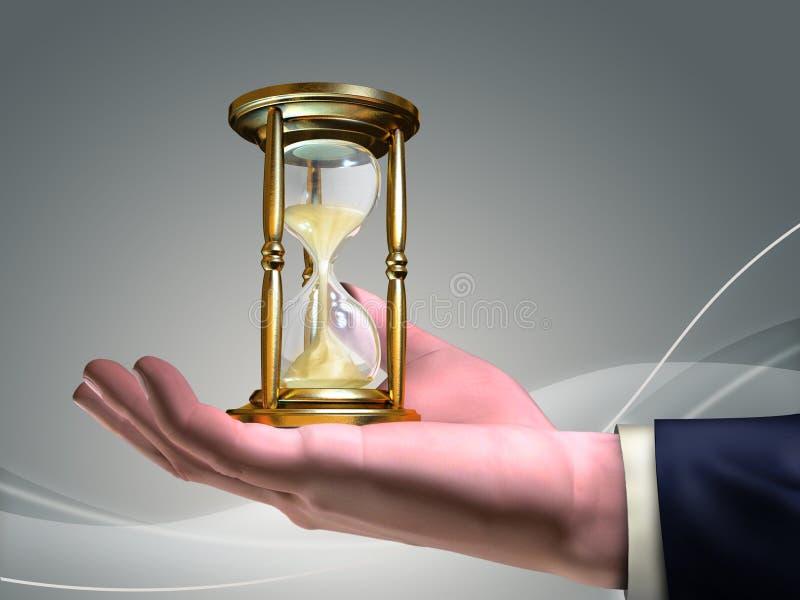 流的时间 向量例证
