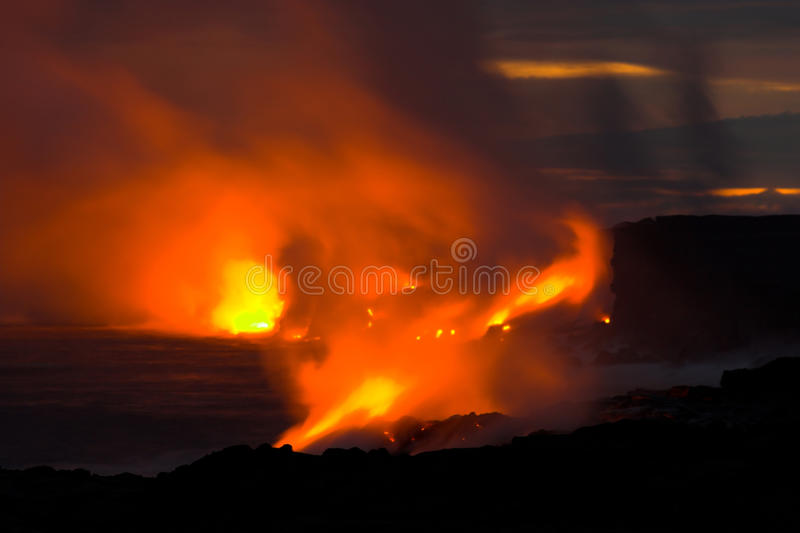 流的熔岩海洋 免版税库存照片