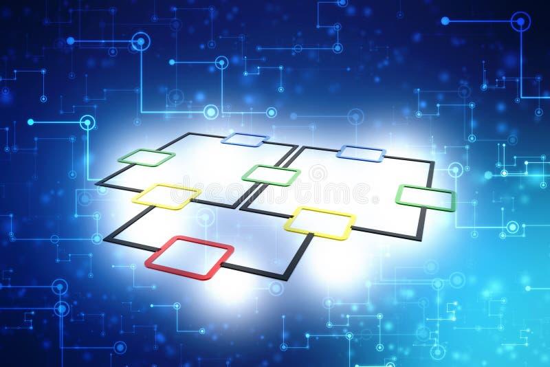 流程图概念,计划 3d回报 向量例证