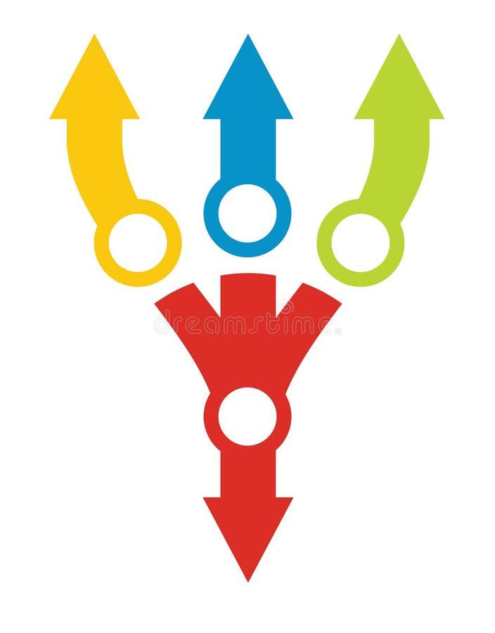 流程图模板,与颜色 皇族释放例证