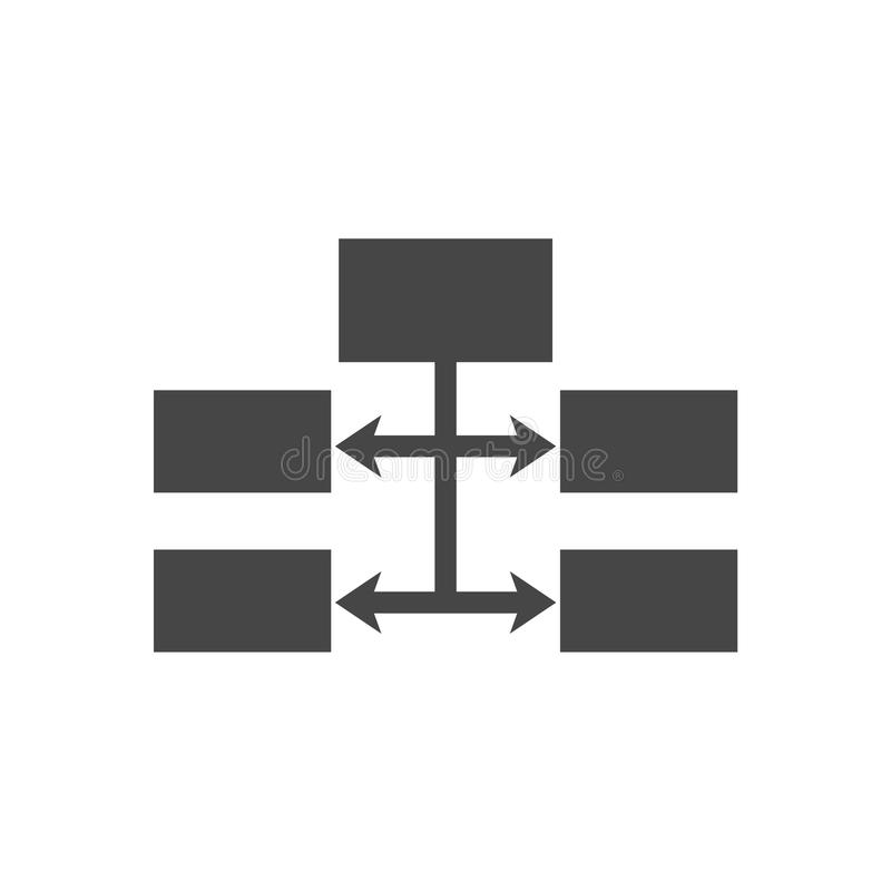 流程图象传染媒介 向量例证