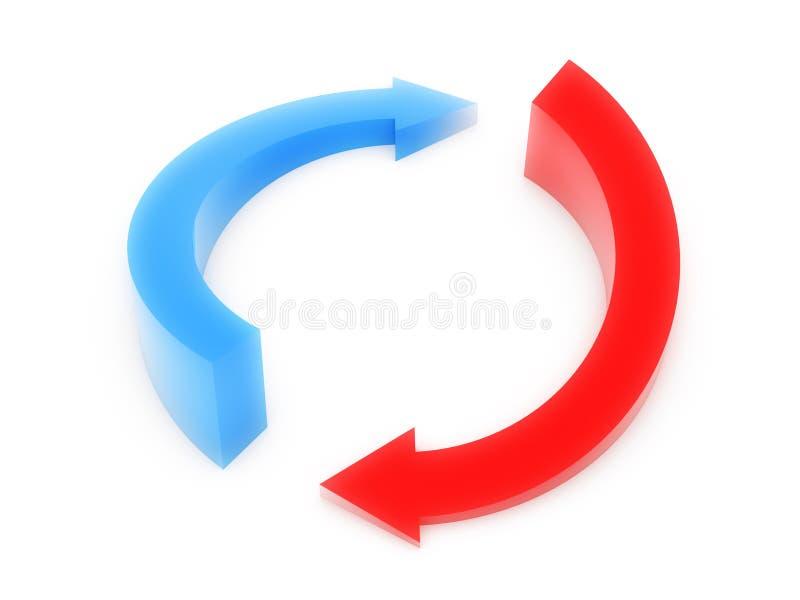 流程图 向量例证