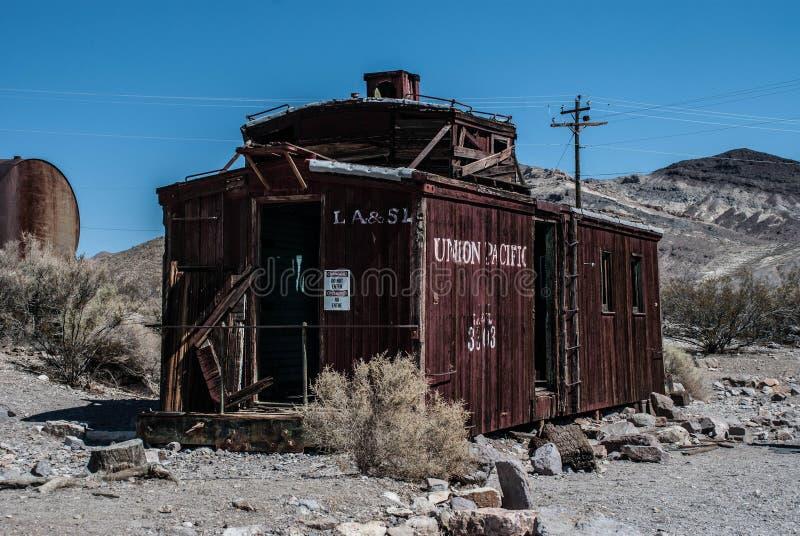 流纹岩鬼城在加利福尼亚 免版税库存照片