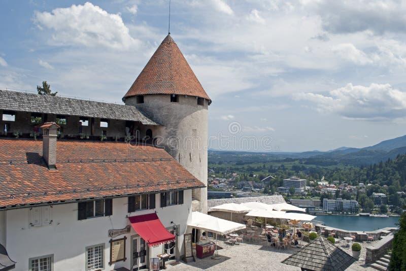 流血的城堡 免版税库存照片
