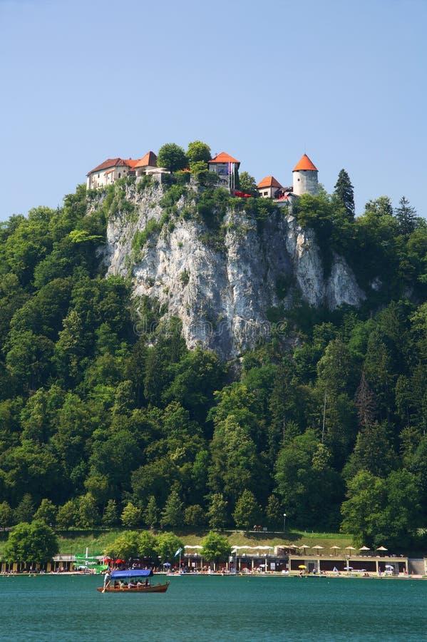 流血的城堡 免版税图库摄影