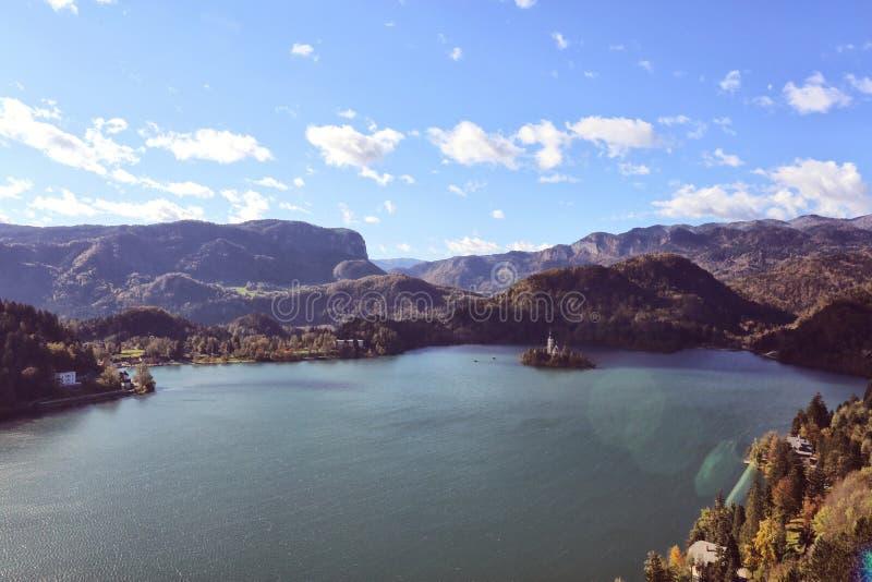 流血的湖斯洛文尼亚 库存照片