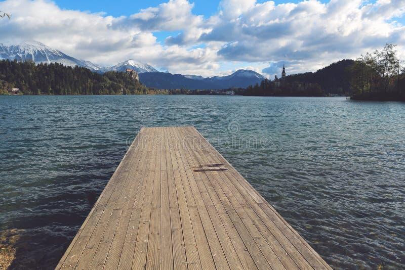 流血的湖斯洛文尼亚 库存图片