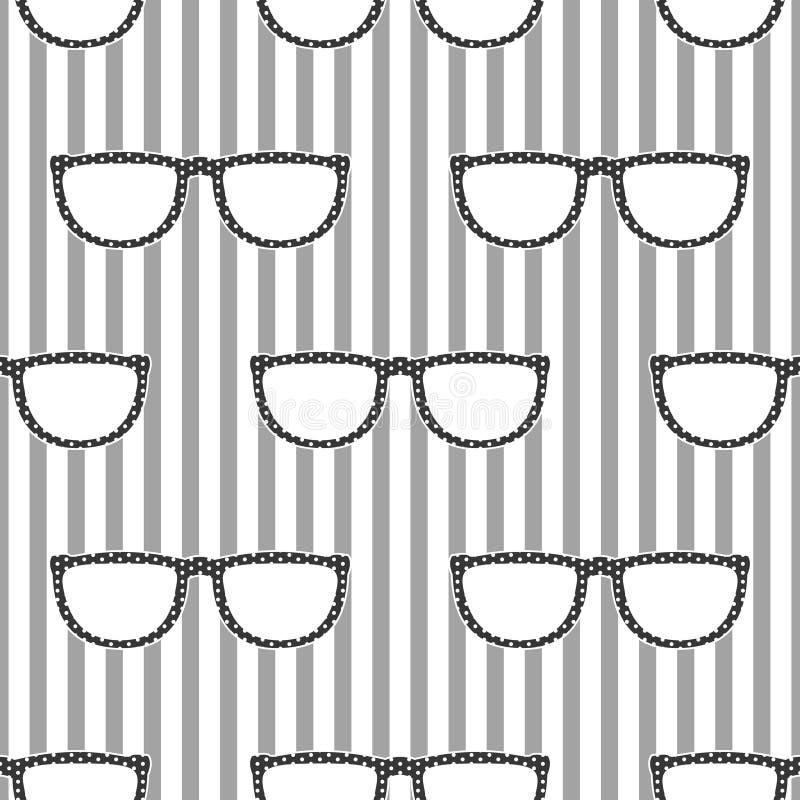 Download 流行在灰色和白色的太阳镜减速火箭的无缝的样式 向量例证. 插画 包括有 时兴, 五颜六色, 设计, 单色 - 72354261