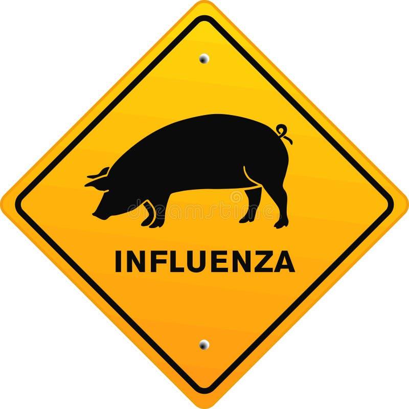流行性感冒猪 皇族释放例证