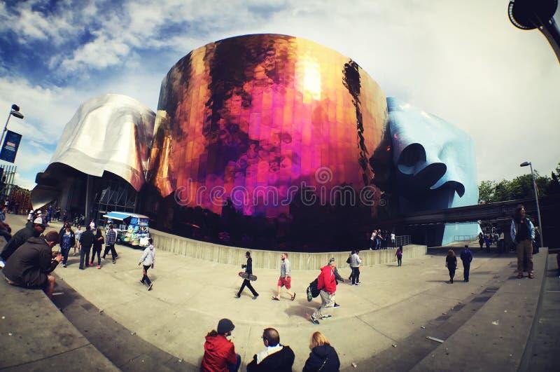 流行文化博物馆在西雅图 库存图片
