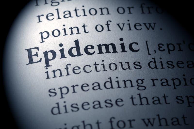 流行病的辞典定义 库存图片