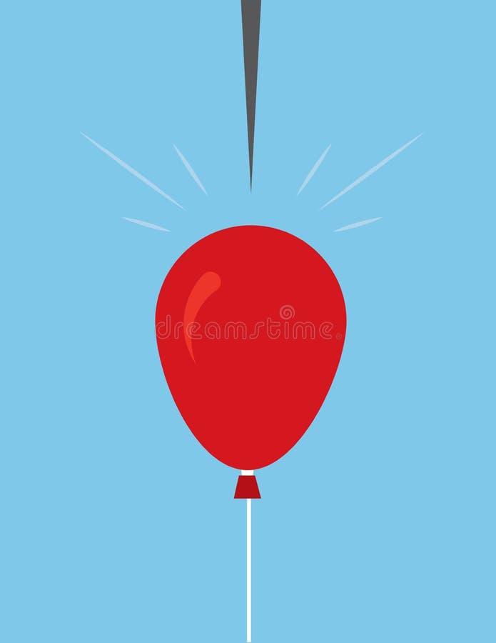 流行的气球Pin 皇族释放例证