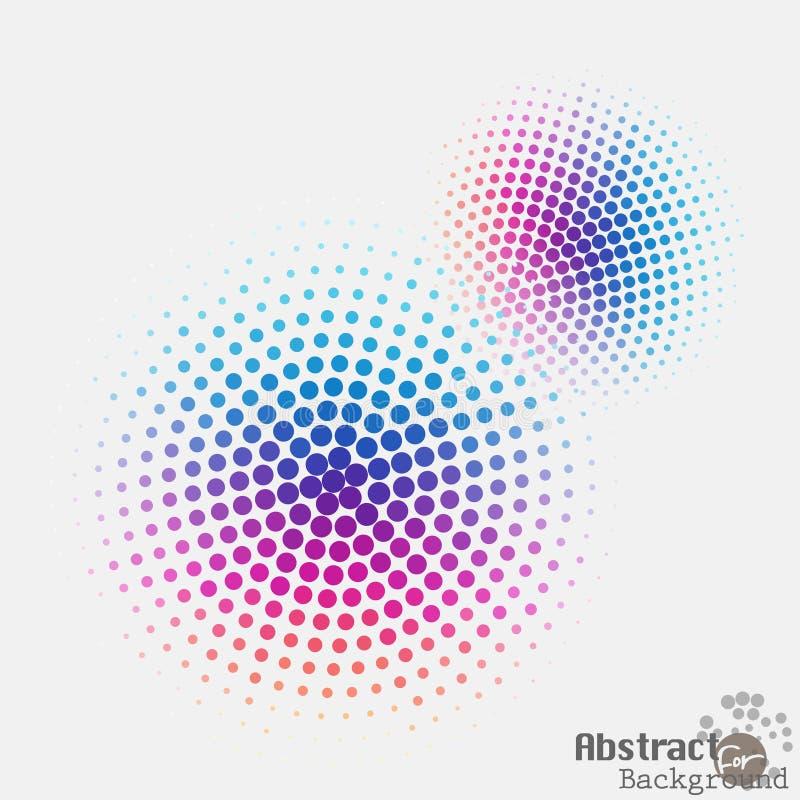 流行艺术中间影调被察觉的被加点的ecircle 流行音乐艺术传染媒介 向量例证