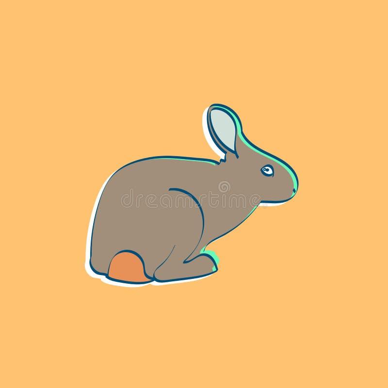 流行艺术兔子 免版税库存图片