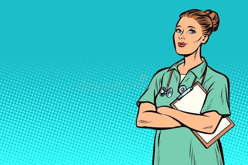 流行艺术护士 医学和健康 皇族释放例证