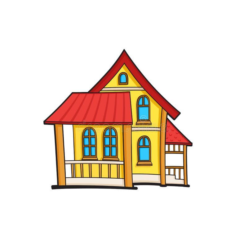 流行艺术样式房子贴纸 免版税库存图片