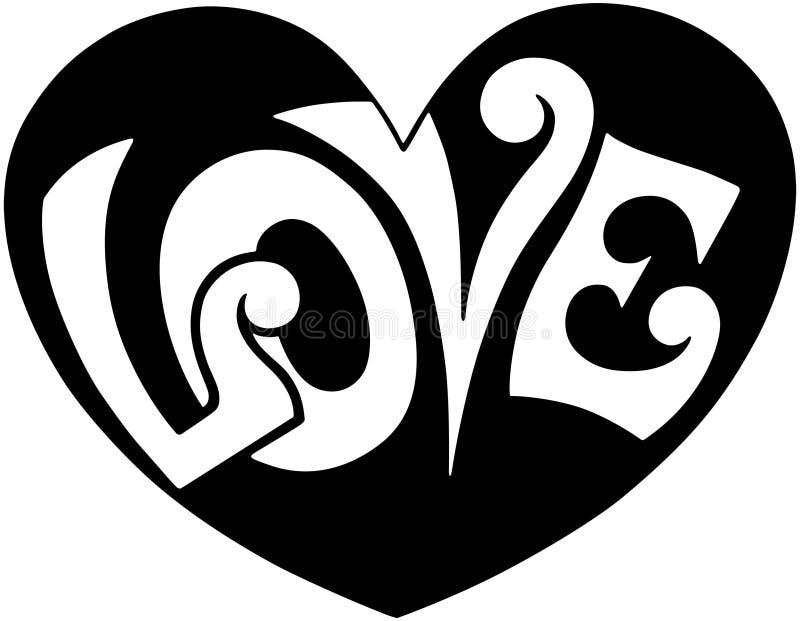 流行艺术爱心脏 向量例证