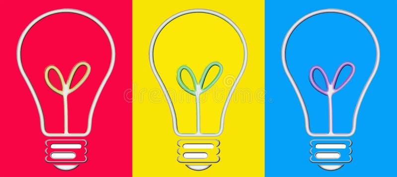 流行艺术电灯泡 向量例证