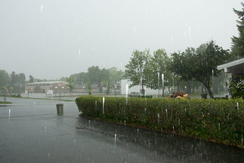洪流雨 免版税图库摄影