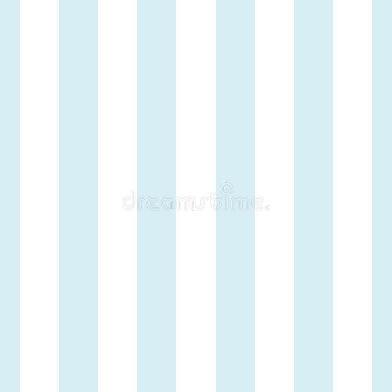 浅兰和白色垂直条纹无缝的样式 向量例证