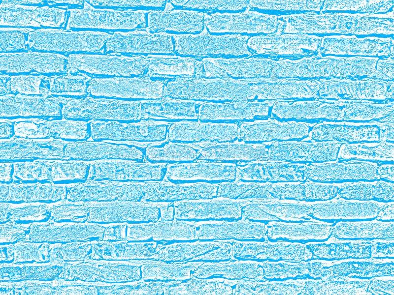 浅兰和白色网和印刷品的砖墙混凝土结构水泥表面难看的东西纹理装饰背景 免版税库存图片