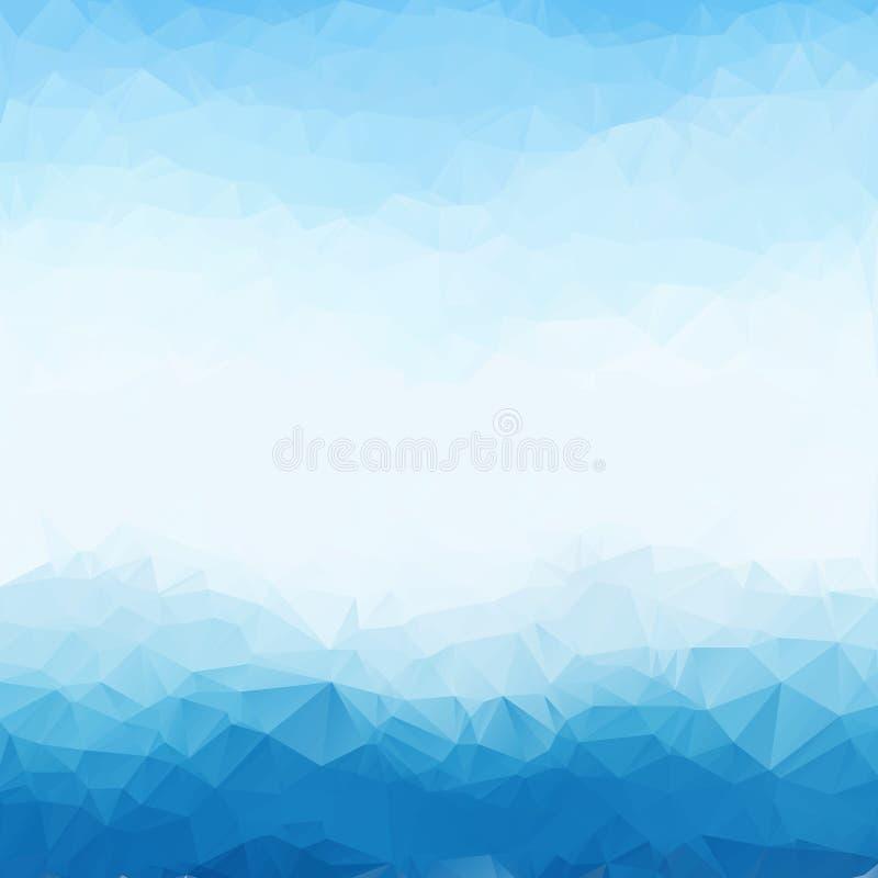 浅兰的明亮的三角多角形背景框架 抽象几何背景 事务的几何设计 皇族释放例证