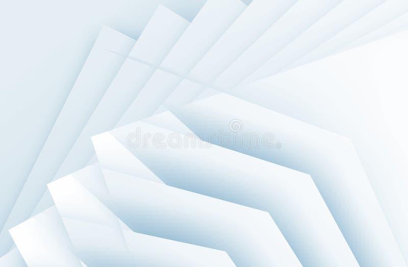 浅兰的板料 提取3d回报 向量例证
