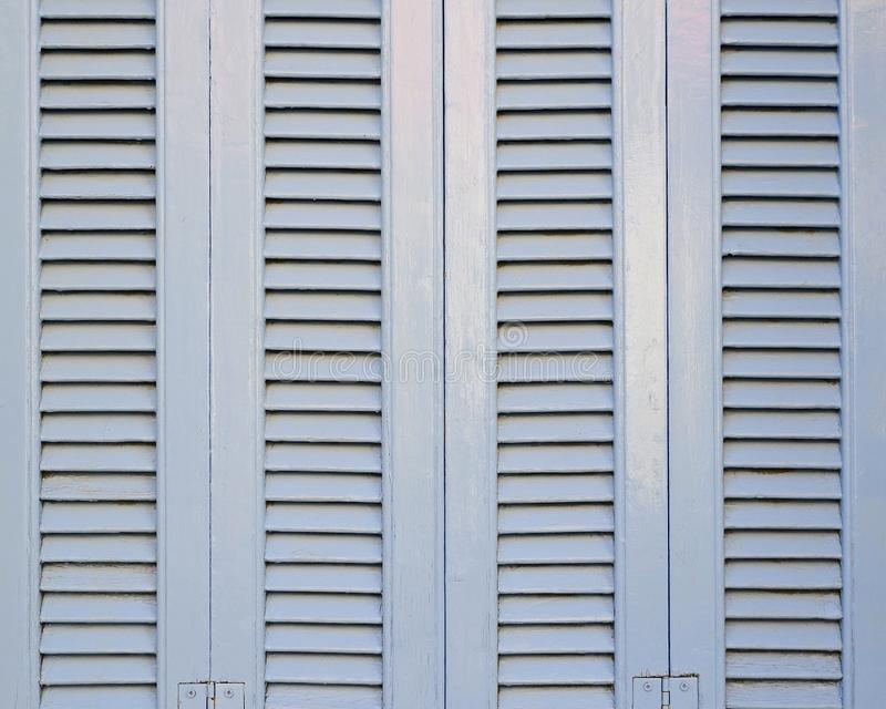 浅兰的法式窗口快门样式 免版税图库摄影
