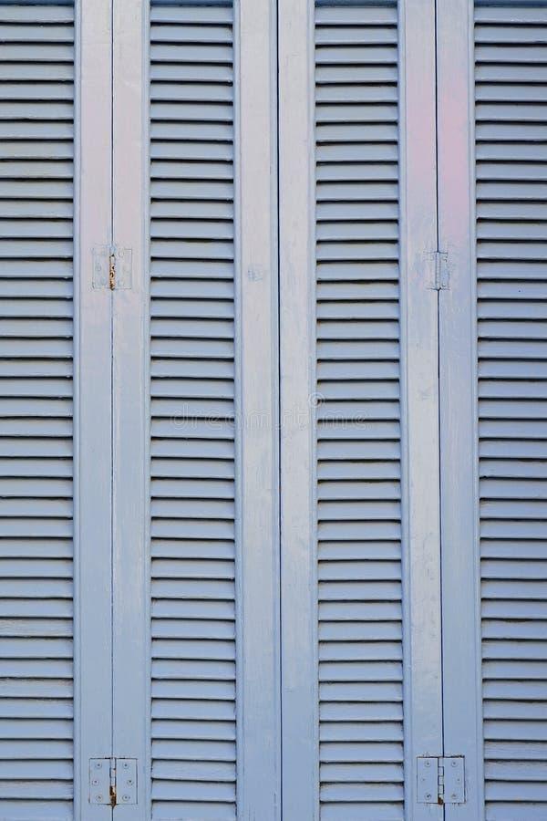 浅兰的法式窗口快门样式 库存照片