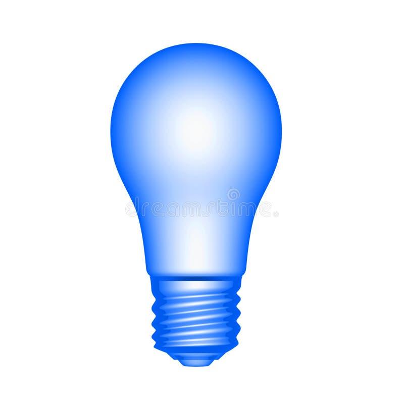 浅兰的电灯泡 库存图片