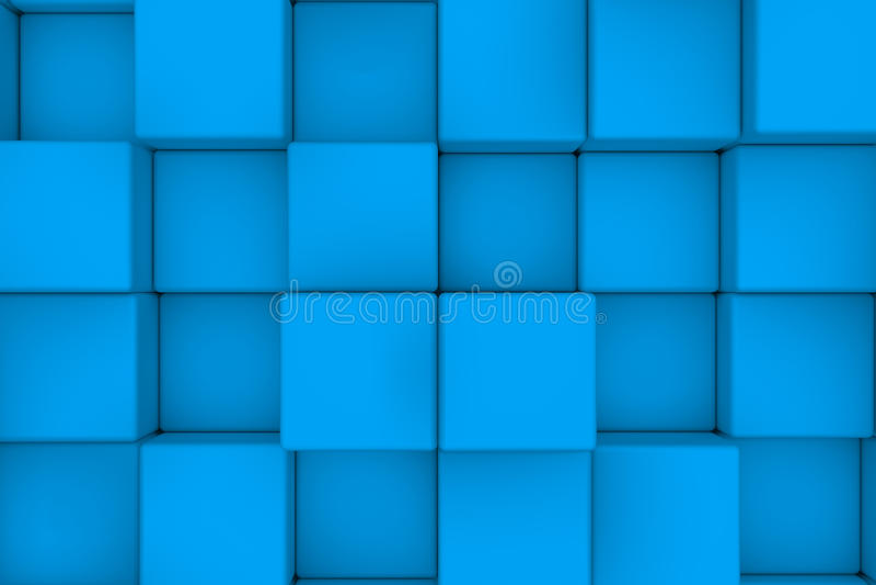 浅兰的立方体墙壁  库存例证