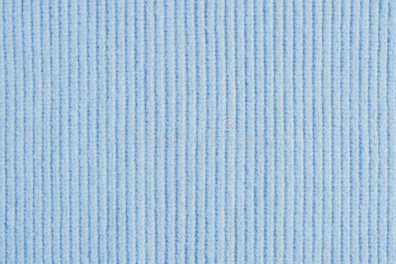 浅兰的编织的羊毛纹理背景 免版税库存图片